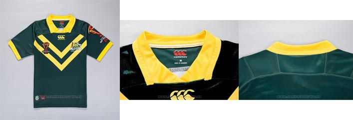 Camiseta Australia Kangaroos Rugby RLWC 2017 Local - camisetasrugby.es